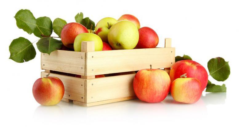 Hofverkauf von Äpfeln